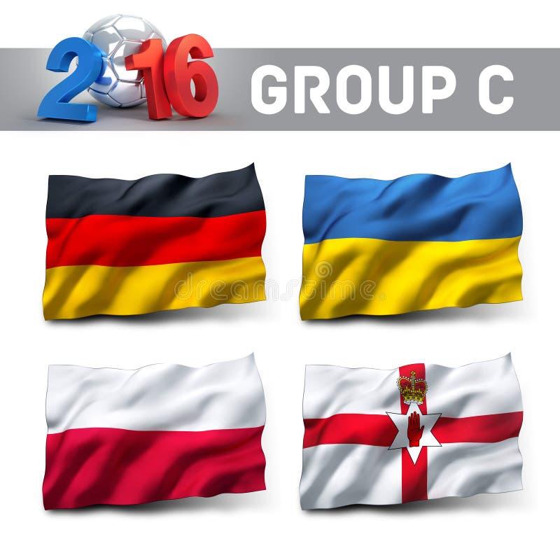 Frankrike 2016 bestämningar vektor illustrationer
