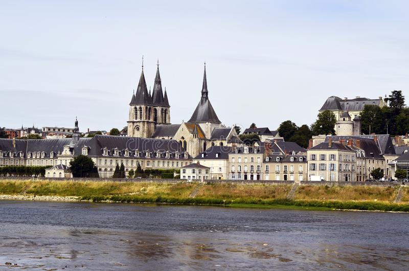 Frankrike Blois i Loire Valley royaltyfria foton