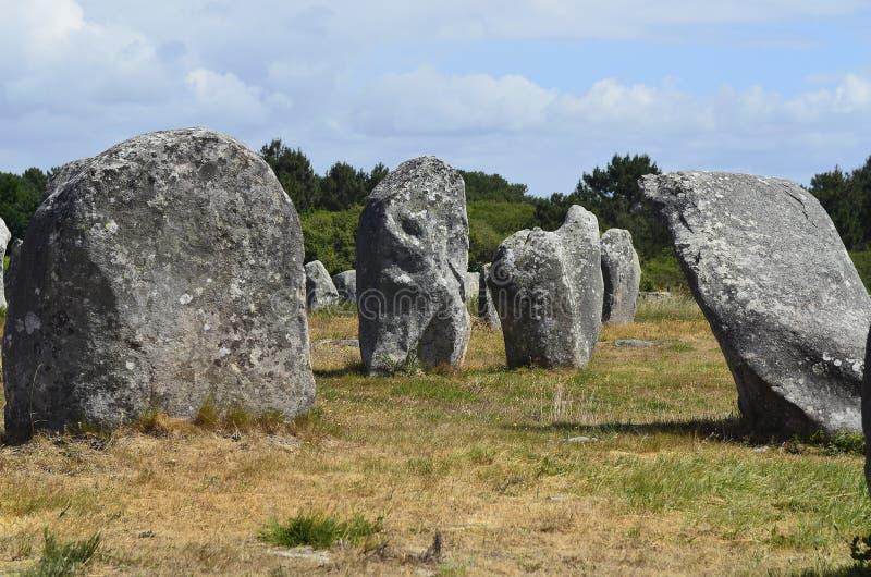 Frankrike Brittany, Carnac arkivfoton