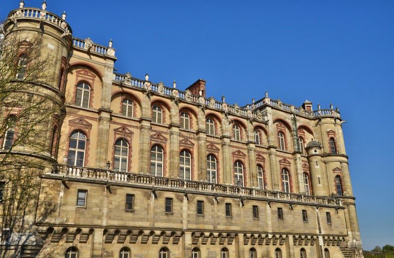 Frankrike den pittoreska slotten av St Germain en Laye; royaltyfri fotografi