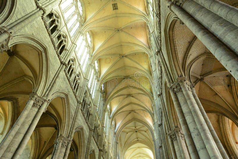 Frankrike den pittoreska staden av Amiens i Picardie royaltyfri fotografi