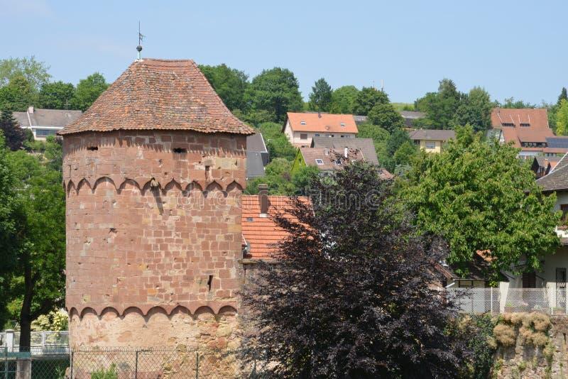 Frankrike den pittoreska staden av Wissembourg i Bas Rhin royaltyfri bild