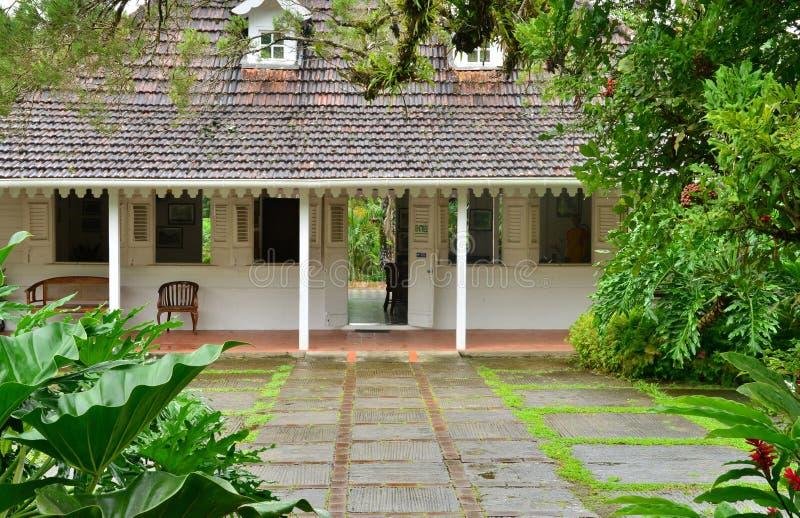 Frankrike den pittoreska trädgården av balataen i Martinique arkivfoton