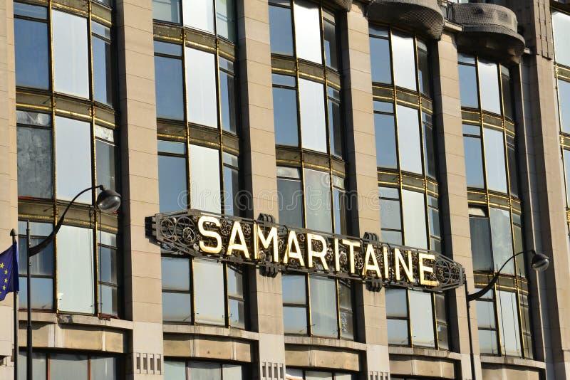 Frankrike det pittoreskt shoppar La Samaritaine i Paris arkivfoton