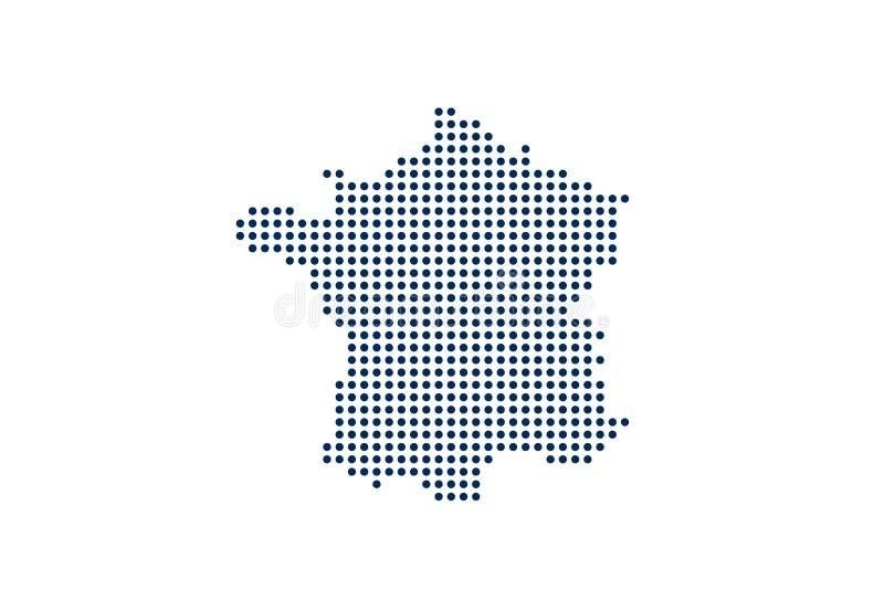 Frankrike Dot Map Digital begrepp f?r designeps f?r 10 bakgrund vektor f?r tech vektor illustrationer