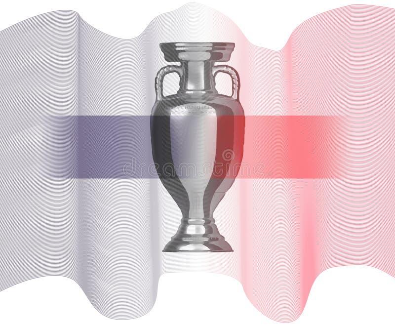 Frankrike eurobakgrund 2016 royaltyfri illustrationer
