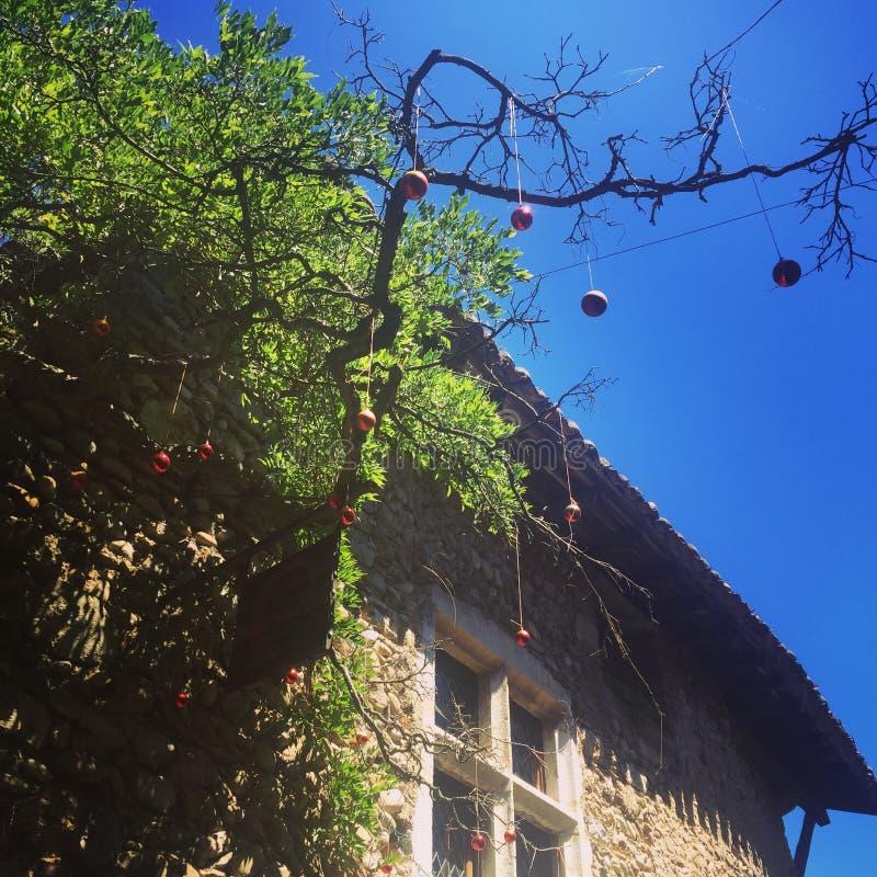 Frankrike för Perouges bystad médiéval gammalt Ain royaltyfri fotografi