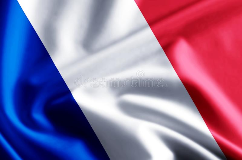 Frankrike flaggaillustration stock illustrationer