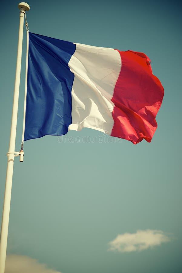 Frankrike flaggasikt arkivfoton