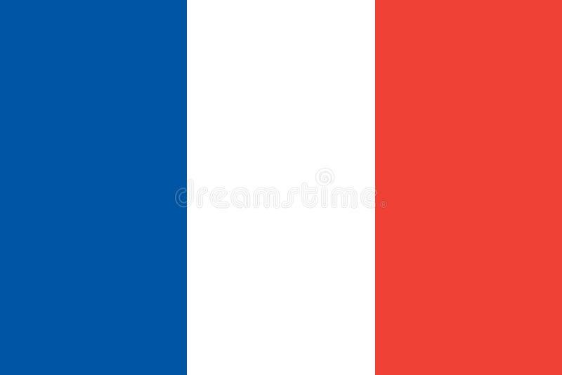 Frankrike flaggavektor royaltyfri illustrationer