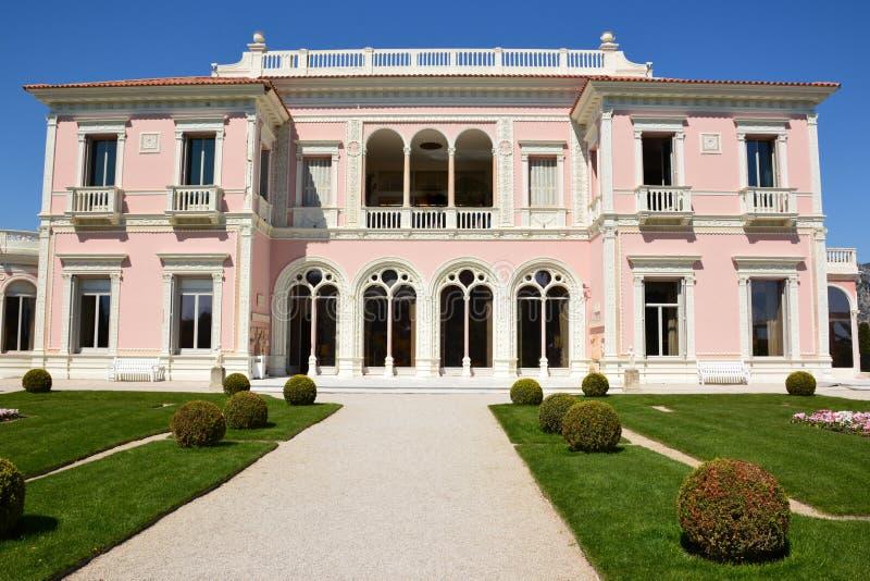 Frankrike franska riviera, helgon Jean Cap Ferrat, villa Rothschild royaltyfria foton