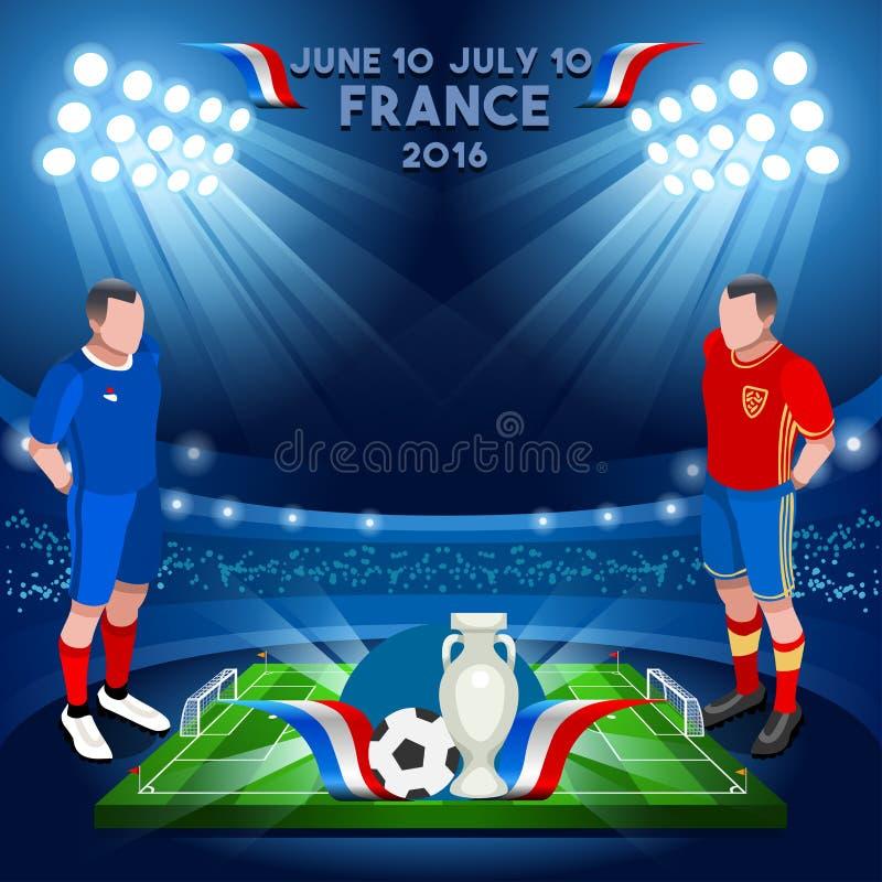 Frankrike mästerskap 2016 royaltyfri illustrationer