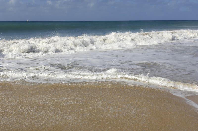 Frankrike Martinique, saltdam sätter på land i Sainte Anne royaltyfri bild