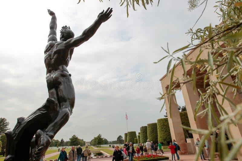 Frankrike Normandie, Juni 6, 2011 - minnes- komplex i minne av förbundna landningar av Normandie arkivbild