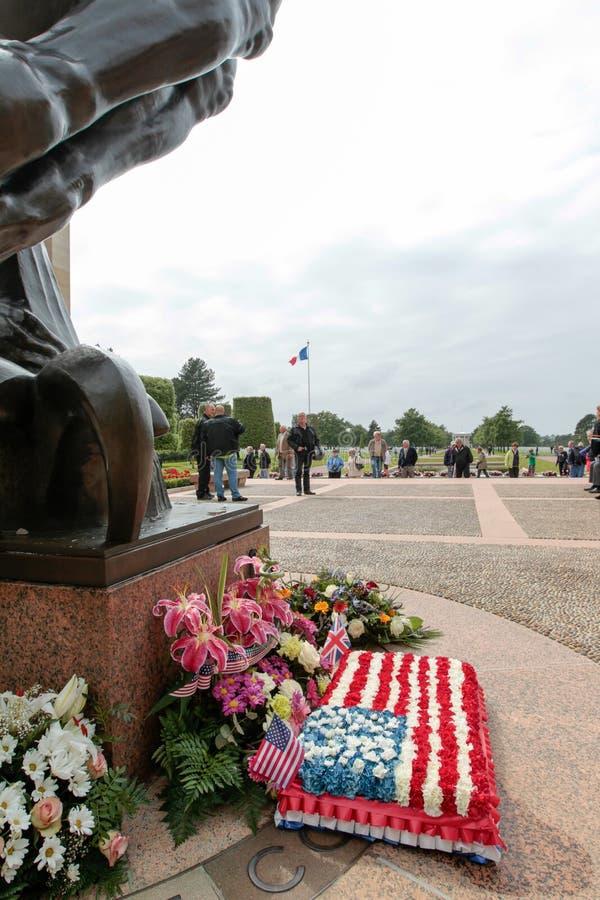 Frankrike Normandie, Juni 6, 2011 - minnes- komplex i minne av förbundna landningar av Normandie royaltyfria foton