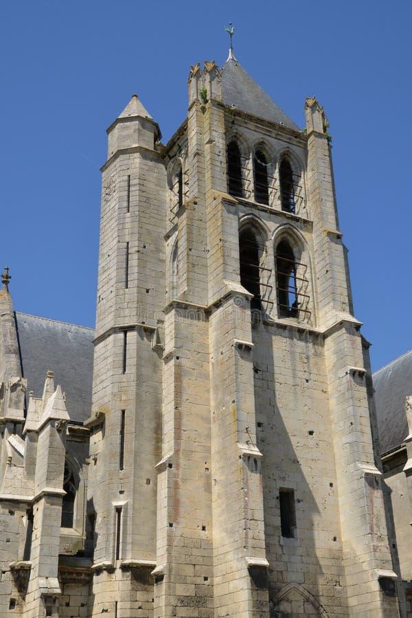 Frankrike pittoresk kyrka av Chambly i Picardie arkivbild