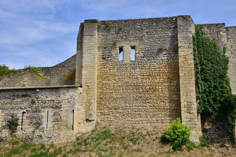 Frankrike pittoresk slott av Gisors i Normandie arkivbild