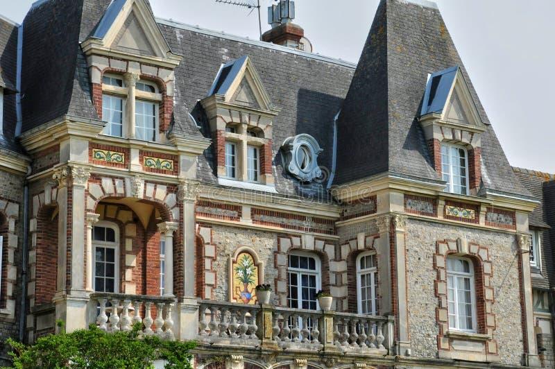 Frankrike pittoresk stad av Cabourg i Normandie arkivfoto