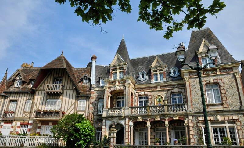 Frankrike pittoresk stad av Cabourg i Normandie royaltyfri foto