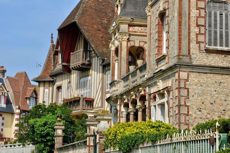 Frankrike pittoresk stad av Cabourg i Normandie arkivbilder