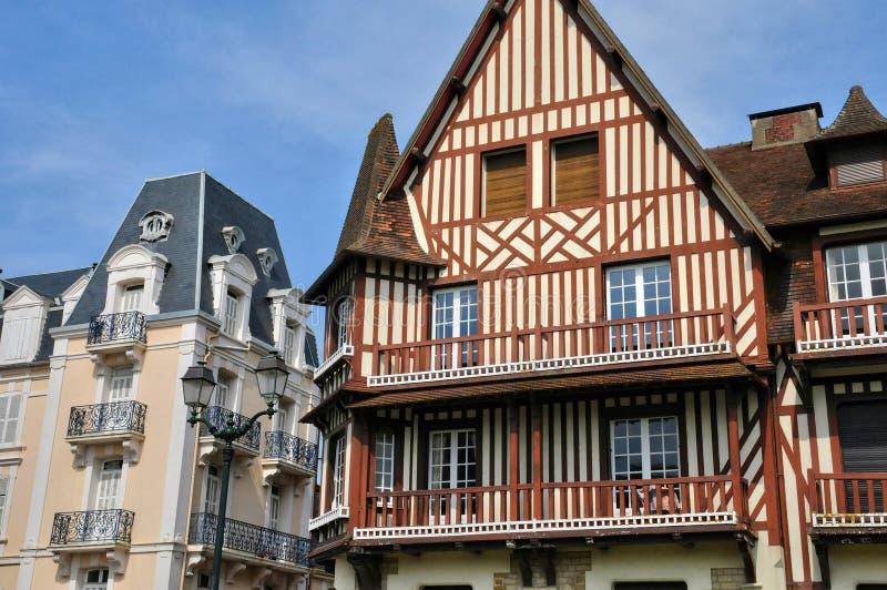 Frankrike pittoresk stad av Cabourg i Normandie royaltyfria foton