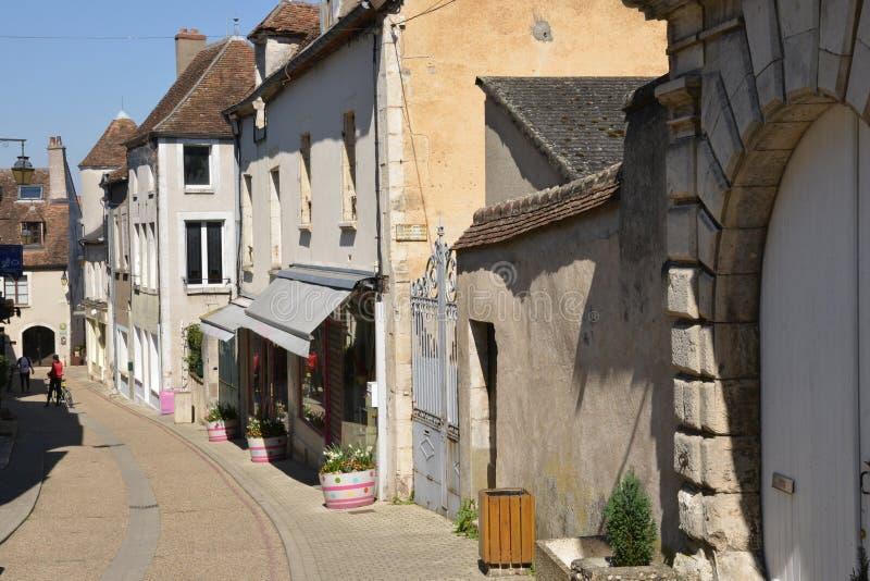 Frankrike pittoresk stad av Sancerre i Cher royaltyfria bilder