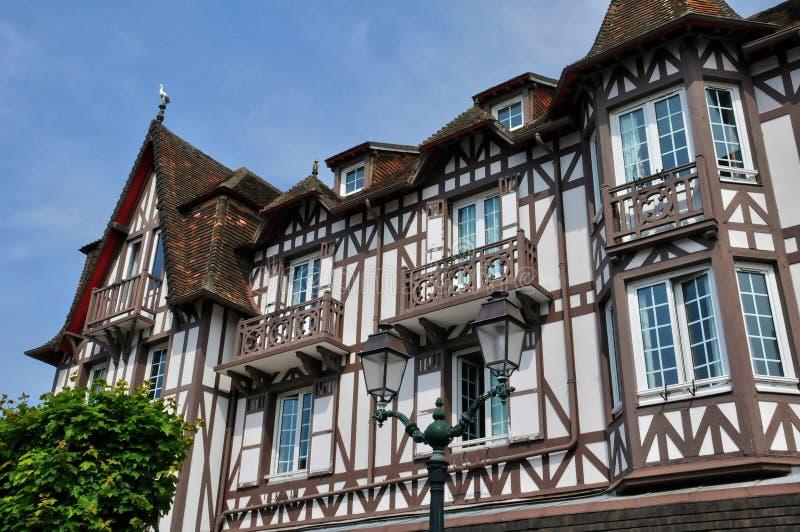 Frankrike stad av Cabourg i Normandie arkivbild