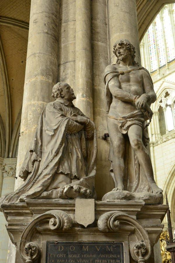 Frankrike staden av Amiens i Picardie royaltyfri fotografi