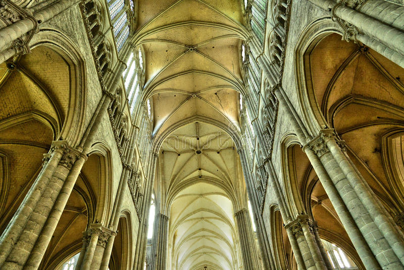Frankrike staden av Amiens i Picardie fotografering för bildbyråer
