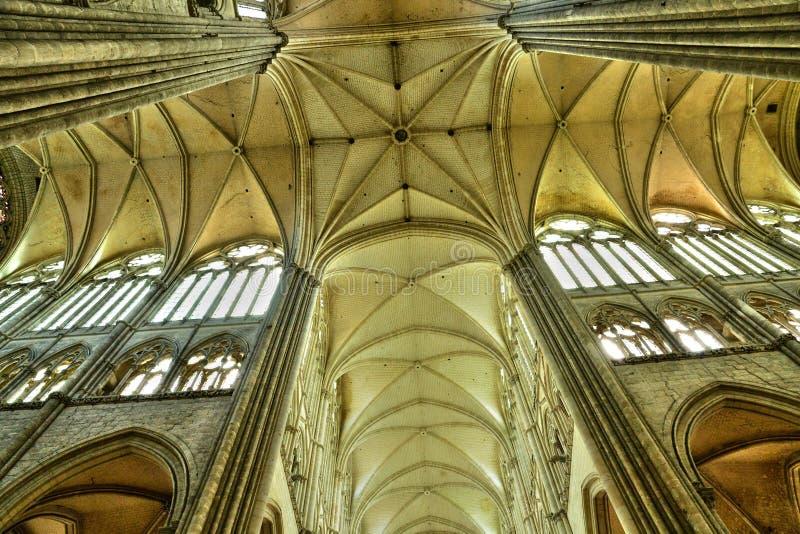 Frankrike staden av Amiens i Picardie arkivfoto