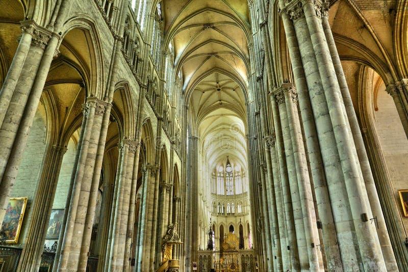 Frankrike staden av Amiens i Picardie royaltyfri foto