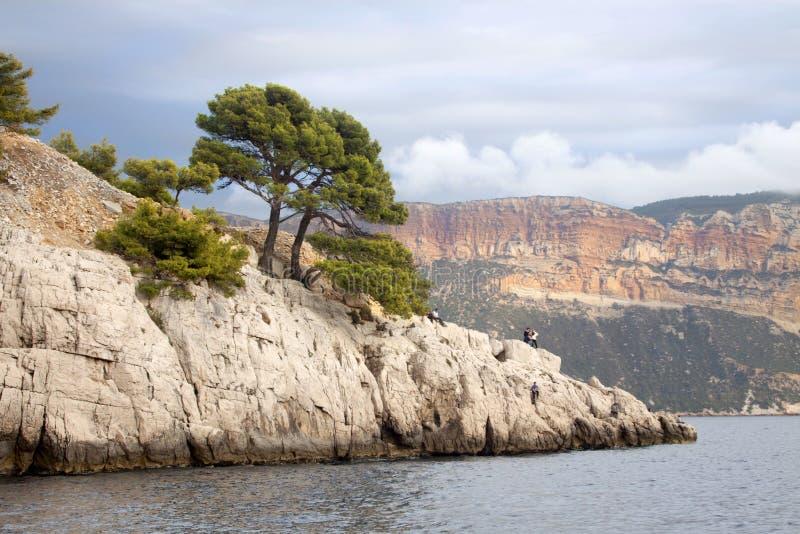 Frankrike svartvinbärsläsk, calanquesna royaltyfria bilder