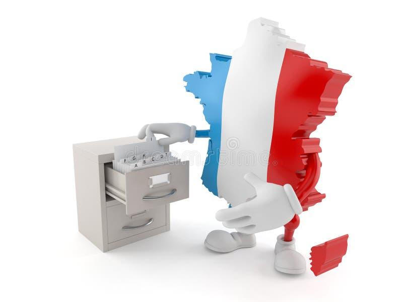 Frankrike tecken med arkivet vektor illustrationer