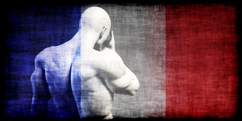 Frankrike terrorist Attack Mourning vektor illustrationer