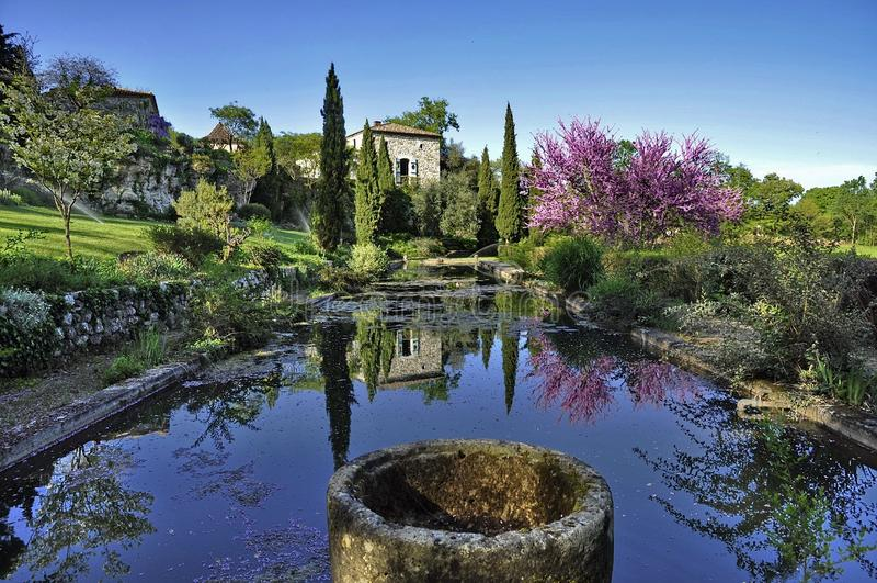 Frankrike trädgård fotografering för bildbyråer