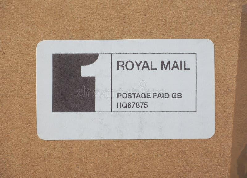 Franqueo de Royal Mail pagado imagenes de archivo