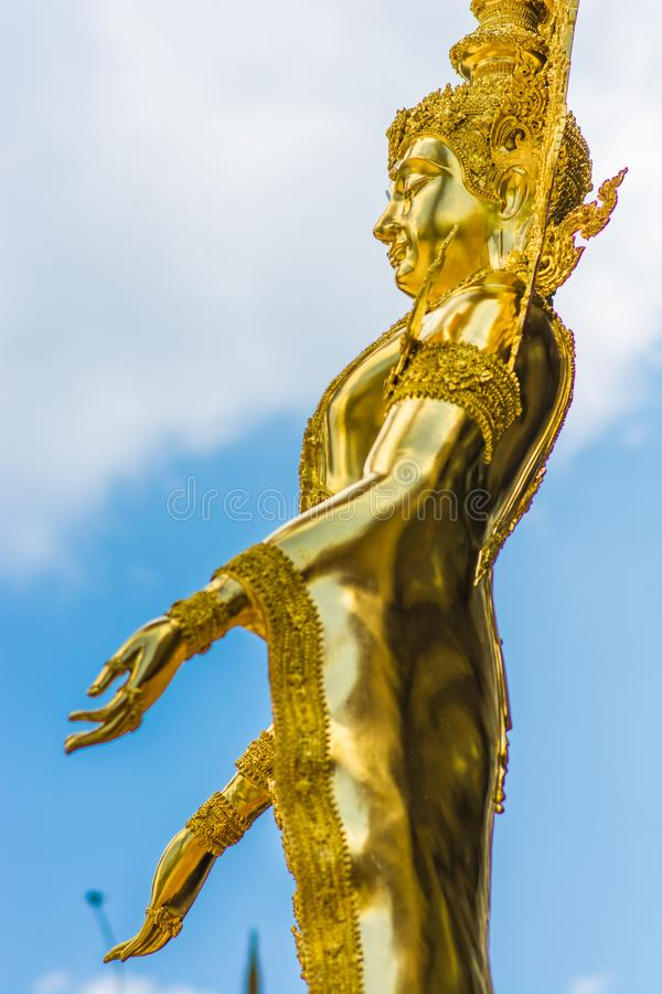 Franqueza de oro pura de la demostración de la imagen de Buda fotografía de archivo libre de regalías