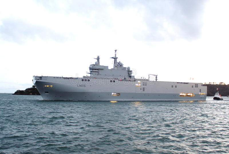 Frans amfibisch de aanvalsschip van schipdixmude L9015 royalty-vrije stock afbeeldingen