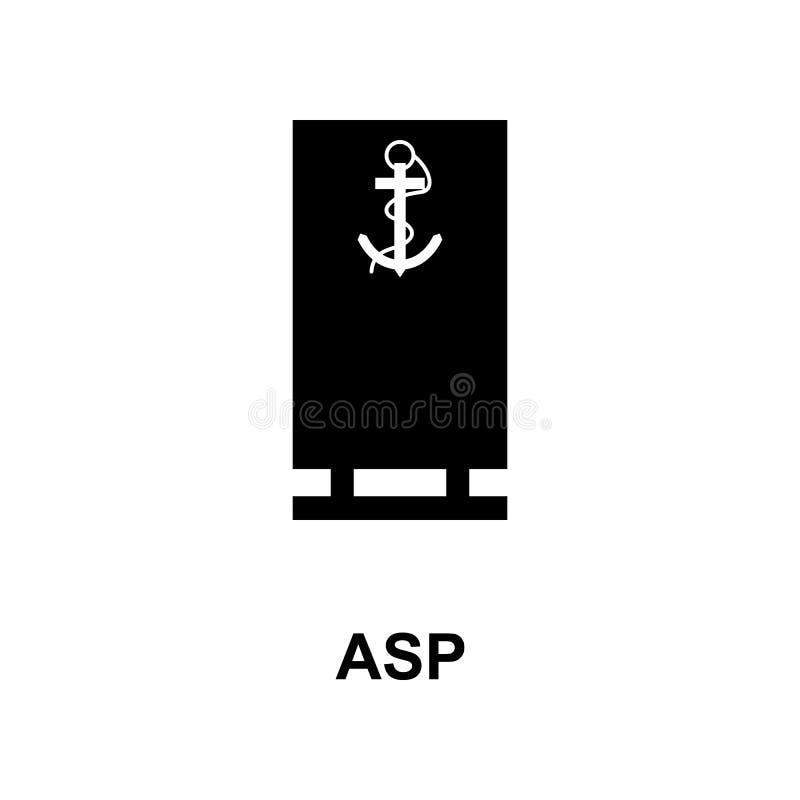 Frans aspis militair rangen en insignes glyph pictogram royalty-vrije illustratie