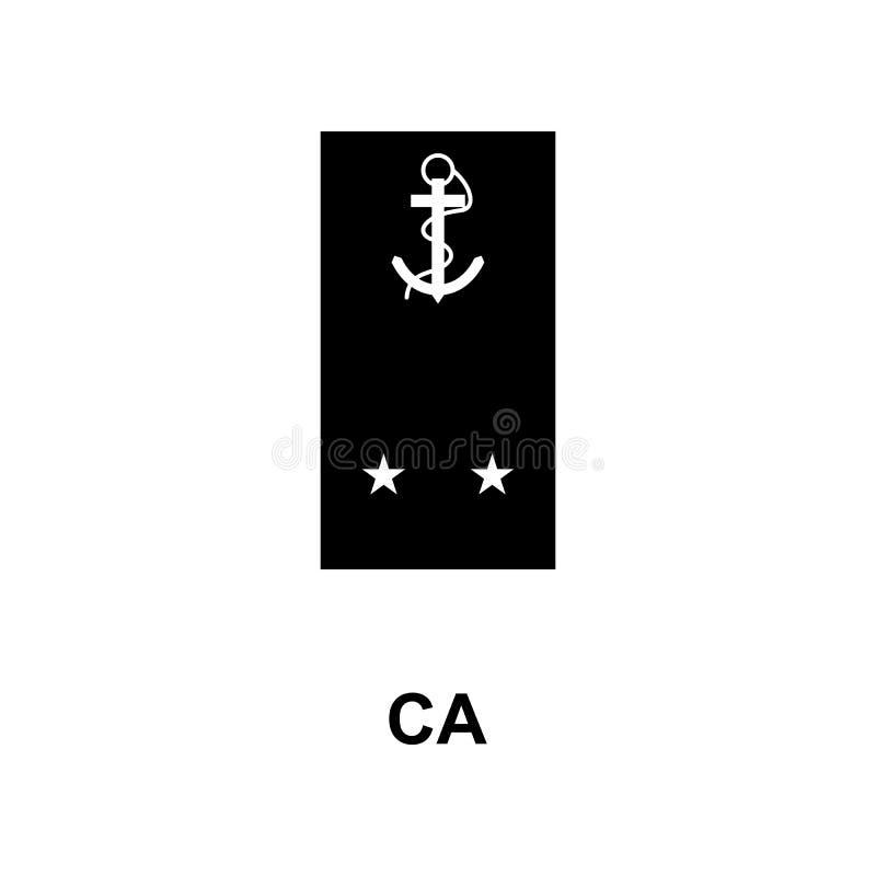 Frans ca militair rangen en insignes glyph pictogram vector illustratie