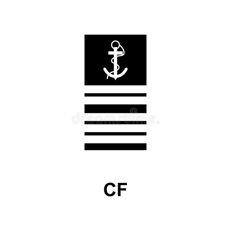 Frans cf. militair rangen en insignes glyph pictogram stock illustratie