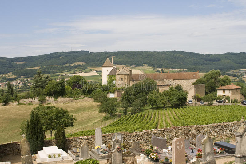 Frans dorp in het gebied van Bourgondië royalty-vrije stock foto