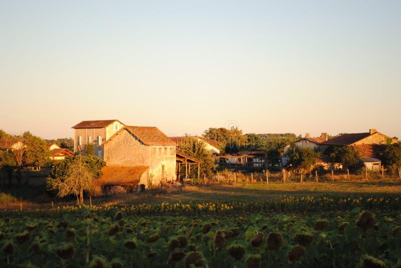 Frans dorp St Severin d'Estissac, Dordogne royalty-vrije stock afbeelding