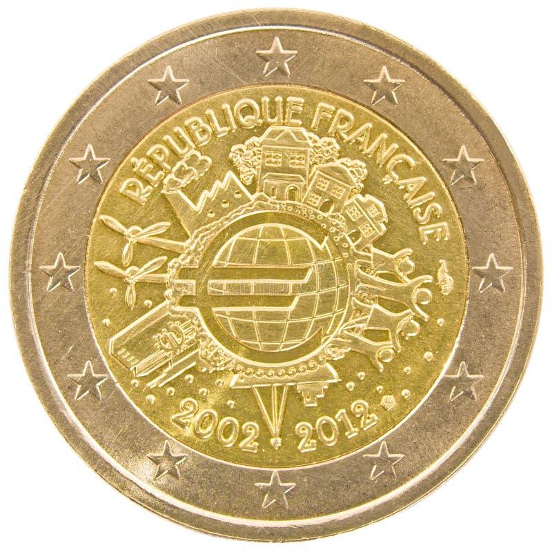 Frans euro muntstuk 2. stock afbeeldingen