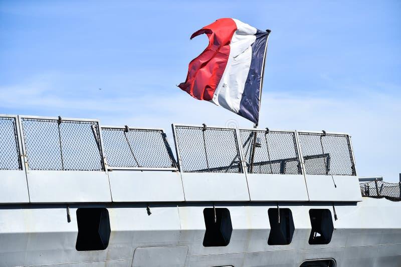 Frans fregat in een haven royalty-vrije stock foto's