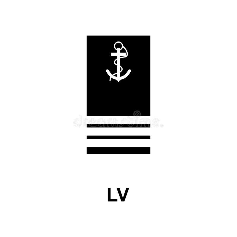Frans lv militair rangen en insignes glyph pictogram royalty-vrije illustratie