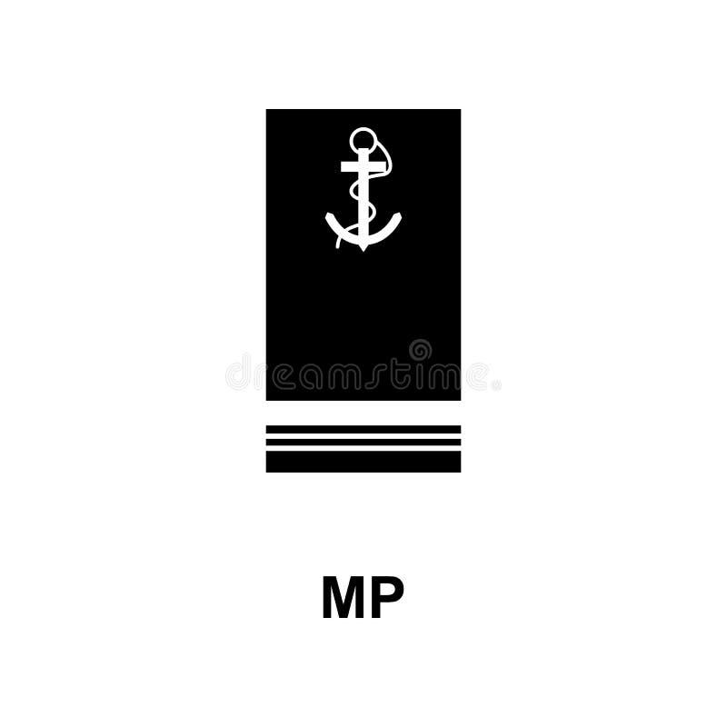 Frans mp militair rangen en insignes glyph pictogram stock illustratie