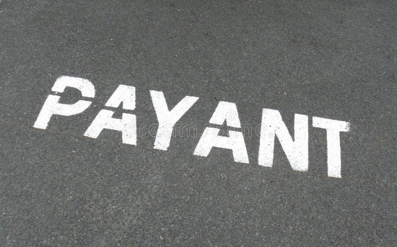 Frans Payant Parkerenteken Royalty-vrije Stock Afbeelding