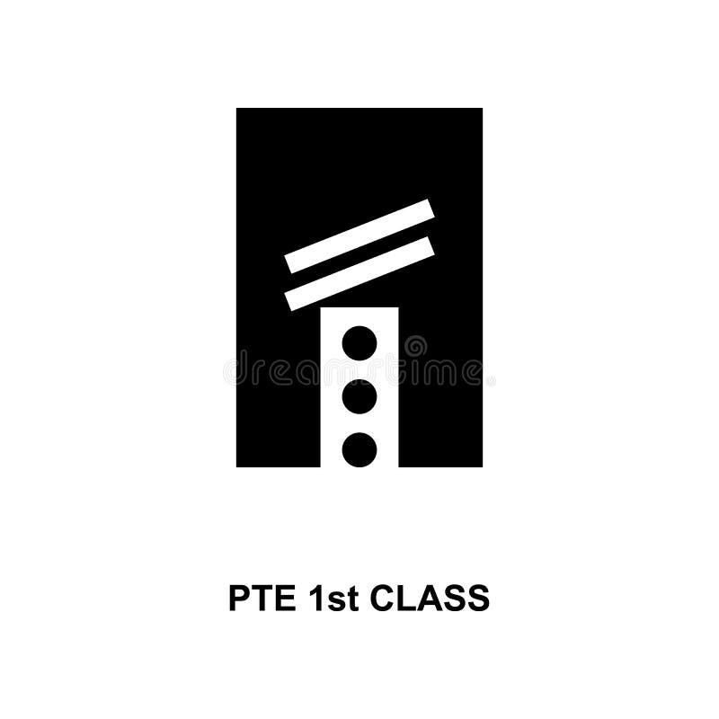 Frans pte eerste klassen militair rangen en insignes glyph pictogram vector illustratie