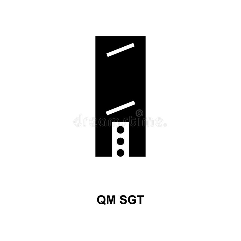 Frans qm sgt militair rangen en insignes glyph pictogram stock illustratie